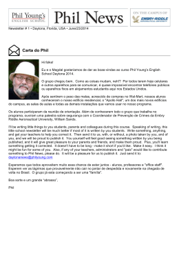 Carta do Phil - Curitiba - Phil Young`s English School