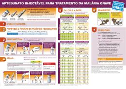 artesunato injectável para tratamento da malária grave