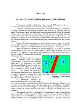 Alterações no equilíbrio hidroeletrolítico.