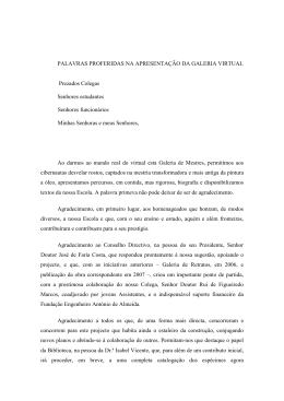 Apresentação - Universidade de Coimbra