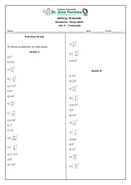 Reforço Matemática EM