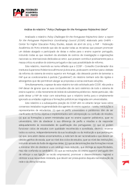 Policy Challenges for the Portuguese Polytechnic Setor Analisado o