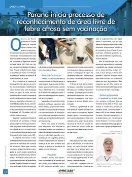 Paraná inicia processo de reconhecimento de área livre de