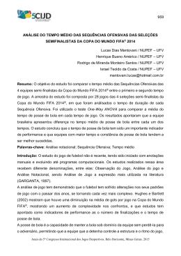 959 ANÁLISE DO TEMPO MÉDIO DAS SEQUÊNCIAS OFENSIVAS