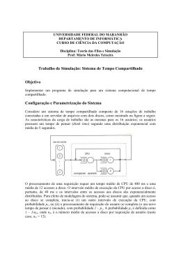 Sistema de Tempo Compartilhado - DEINF/UFMA