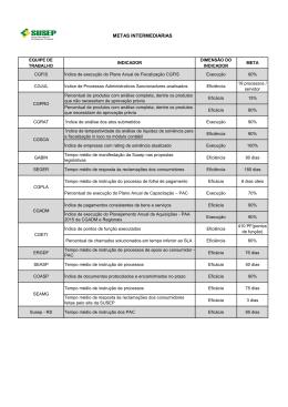 Anexo I - Metas Intermediárias