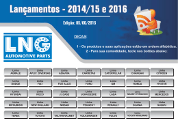Lançamentos - 2014/15 e 2016 1