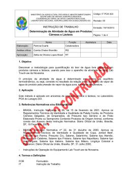 IT POA 423 - Ministério da Agricultura