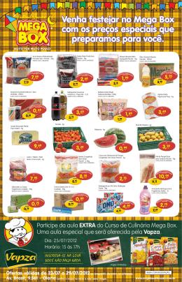 Venha festejar no Mega Box com os preços especiais que