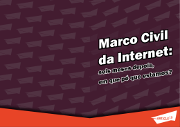 Marco Civil da Internet: