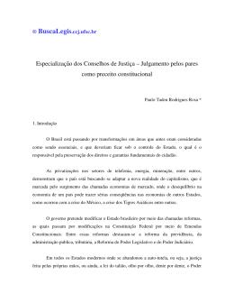 Especialização dos Conselhos de Justiça - BuscaLegis