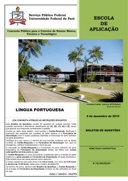 Língua Portuguesa - Ceps - Universidade Federal do Pará