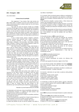 2006 - Português - AFA - Projeto Futuro Militar
