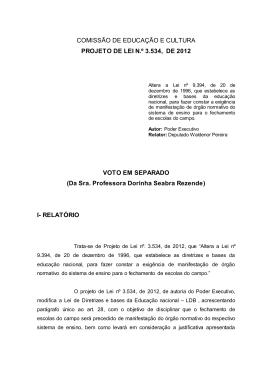 comissão especial destinada a proferir parecer ao pl nº