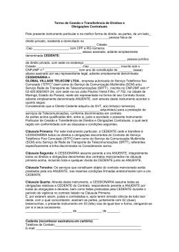 Termo Cessão Titularidade CPF-CNPJ