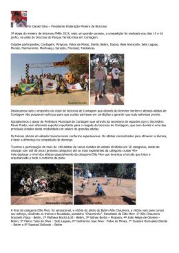 Por Daniel Silva – Presidente Federação Mineira de Bicicross 3ª
