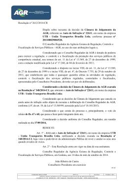 Resolução nº 2612/2014-CR Dispõe sobre reexame da decisão da