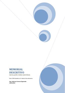 MEMORIAL DESCRITIVO - Eng. Anderson Fonseca Figueiredo