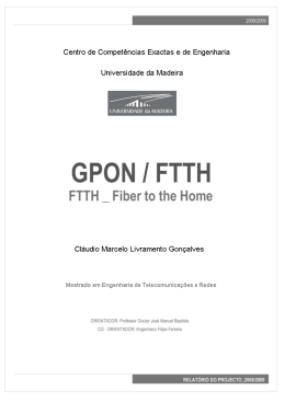 [GPON / FTTH _ FIBER TO THE HOME]