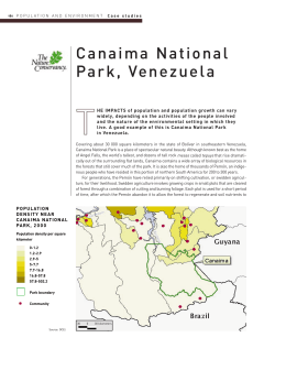 Canaima National Park, Venezuela - AAAS Atlas of Population and