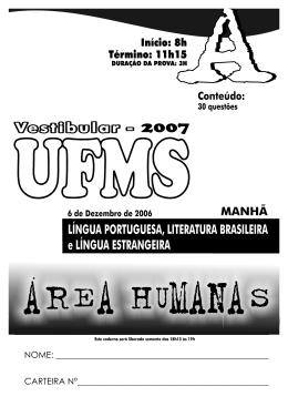 Processo Seletivo UFMS 2007 - Verão