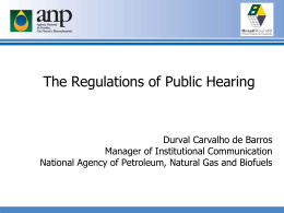 The Regulations of Public Hearing