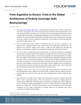 From Argentina to Greece: Crisis in the Global Architecture of
