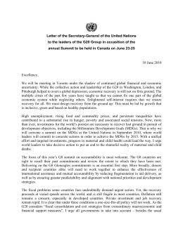 Letter of the Secretary-General of the United Nations to