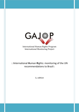 monitoring of the UN recommendations to Brazil