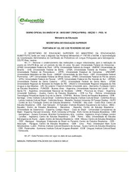 DIÁRIO OFICIAL DA UNIÃO Nº 26 - 06/02/2007 (TERÇA