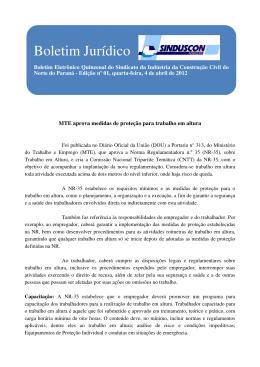 Boletim Jurídico - Sinduscon Norte / PR