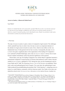To Article - Electronic Journal of Comparative Law