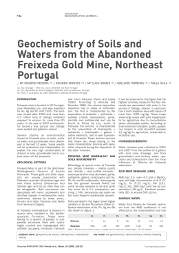 Geochemistry of Soils and Waters from the Abandoned Freixeda