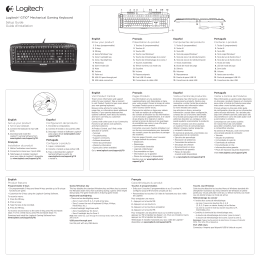 Logitech® G710+ Mechanical Gaming Keyboard Setup Guide Guide