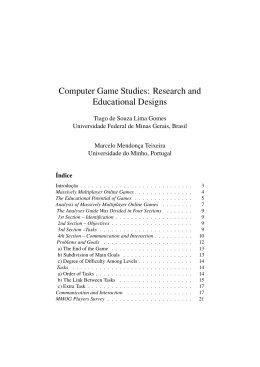 Computer Game Studies: Research and Educational Designs