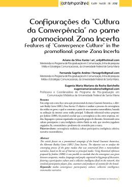 """Configurações da """"Cultura da Convergência"""" no game promocional"""