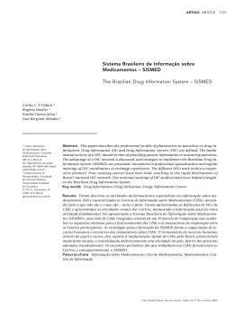 Sistema Brasileiro de Informação sobre Medicamentos