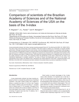 Comparison of scientists of the Brazilian Academy of Sciences and