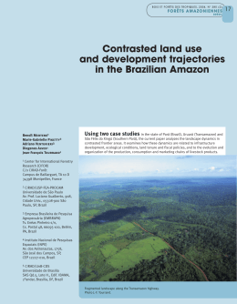 Contrasted land use and development trajectories in the Brazilian
