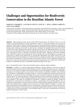 Challenges and Opportunities for Biodiversity Conservation in the