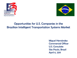 Opportunities for U.S. Companies in the Brazilian Intelligent