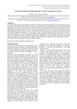 REVIEW OF MERCURY BIOMONITORING ALONG THE BRAZILIAN