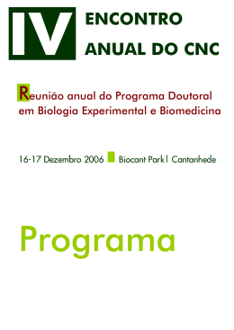 Encontro Anual do Programa Doutoral do CNC