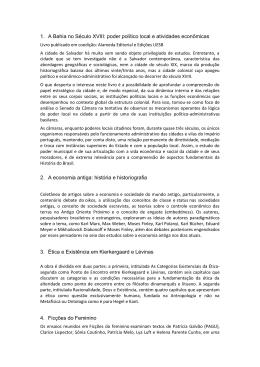 1. A Bahia no Século XVIII: poder político local e atividades