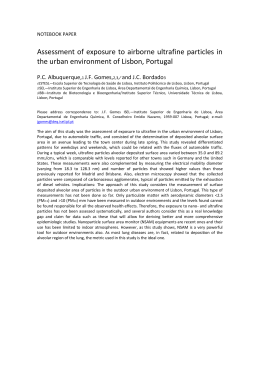 Assessment of exposure to airborne ultrafine particles in the urban