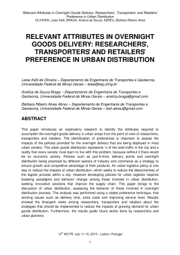 relevant attributes in overnight goods delivery: researchers