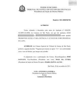 TJSP - Apelação nº 0204298-30.2009.8.26.0004