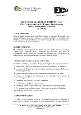 1 VAGA - ECO - Escola de Comunicação :: UFRJ