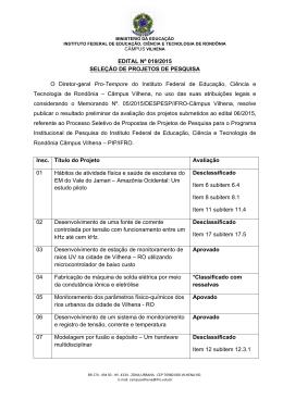 edital nº 019/2015 – resultado preliminar