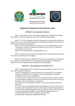 normas de tcc - Cursos da Unipampa